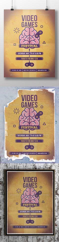 Brain Games Flyer Template