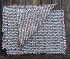 Pair of hand-woven cotton and recycled plastic by KathysKaps