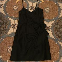 Lauren Conrad black bow dress Black bow dress with heart shaped top and spaghetti straps LC Lauren Conrad Dresses Mini