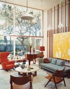 1960 Sixties Office Interior Interior Design Style