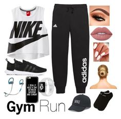 """Gym"" by aleezak04 on Polyvore featuring NIKE, adidas, Lime Crime, Casetify, Beats by Dr. Dre and SO"