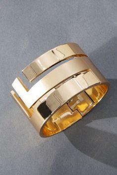 Gorgeous vintage Lanvin rose gold matte/shine cuff. Love love love.