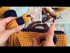 Вяжем СУМКУ из ТРИКОТАЖНОЙ ПРЯЖИ. ЧАСТЬ 2: Стенки сумочки и ДЕКОР - YouTube