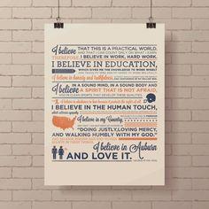Auburn University Creed Screen Print by AnnaKateness on Etsy, $35.00