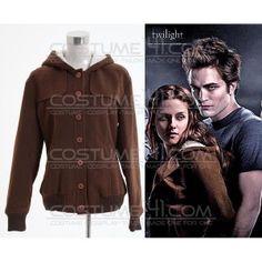 Twilight Bella Swan Brown Wool Coat Jacket Costume *Custom Made*