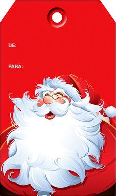 Tags de Natal Papai Noel
