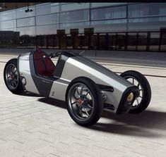 Electric Tricycle, Electric Cars, E Biker, Recumbent Bicycle, Reverse Trike, Trike Motorcycle, Suspension Design, City Car, Futuristic Cars