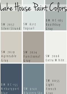 Lake House Paint Colors – The Lilypad Cottage The Best Lake House Paint Colors – calming blue and gray tones that all coordinate for a seamless color pallet for a lake home.