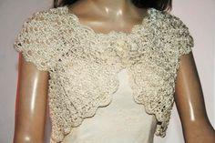 Items similar to Wedding Bridal Bolero Shrug Lace Crochet Shrug Boleros white cream ivory Cotton Silk on Etsy thoughts? Bridal Bolero, Cotton Silk, Social Platform, Ivory, Thoughts, Cream, Beauty, Beautiful, Crochet