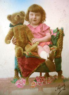 Antique french bear postcard Photo card of a by LizKnijnenburg, €4.55