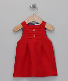Take a look at this Red Swing Dress - Infant by Yo Baby on #zulily today!