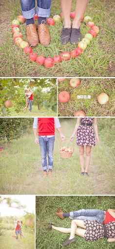 I really like the idea of an apple orchard engagement shoot. :-)