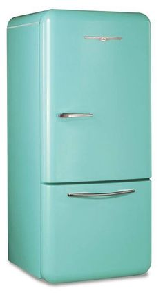 Vintage turquoise kitchen. Would I get sick of this eventually?