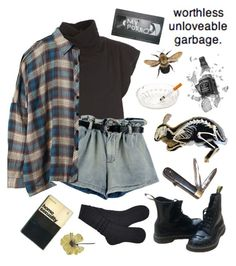 """""""homosexuality and garbage ♡"""" by toofabuforyou ❤ liked on Polyvore featuring Rick Owens Lilies, UGG, Dr. Martens, Retrò, Zone and UNIF"""