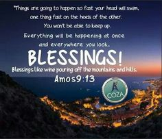 The Lord God blesses you with dew from heaven and with fertile fields, rich with grain and grapes. Throughout this month, you will have testimonies of the blessing! God's good Hands of favor come on your life and everything that concerns you today in Jesus' name. This December shall be a unique and significant one for you. Get ready for divine surprises this month in the name of Jesus! God is turning every impossibility to possibilities. From this month, men will begin to see joy, happiness…