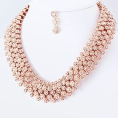 Rose gold necklace Freshwater pearls beaded necklace Gifts for