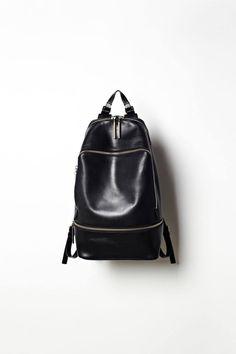 Zip Around Backpack in Black