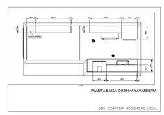 Planta Baixa Cozinha/Lavanderia