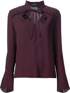 ruffle detail blouse More