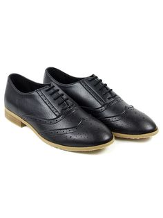 Vegan Vegetarian Non-Leather Womens Brogue Lace-up Shoes