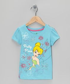 Take a look at this Aqua Pretty Pixie Tinker Bell Floral Tee - Toddler by Disney on #zulily today!