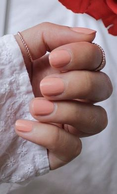 60 Trending Nails Art Looks For Your Summer Inspiration Orange Nails, Nude Nails, Nail Polish Colors, Nail Inspo, Nail Art, Inspiration, Simple, Beauty, Colours
