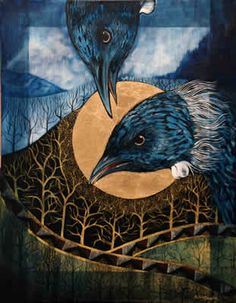 by Robin Slow Art Maori, New Zealand Art, Nz Art, Raven Art, Realism Art, Art Portfolio, Whimsical Art, Animal Paintings, Artist Painting