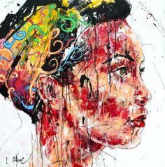 Lucile Callegari / T238 / Acrylique et fusain sur toile, 80x80cm, 2015.