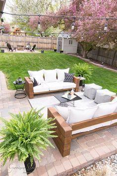 Diy Outdoor Sofa Full Tutorial Garrisonstreetdesignstudio Furniture Wood Rustic Modern Easy Ideas Deck Building Plans In