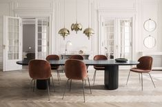 Shop the Moon Dining Table and more contemporary furniture designs by Gubi at Haute Living. Solid Oak Table, Oak Table Top, Modern Dining Table, Dining Chairs, Beetle Chair, Skandinavisch Modern, Moon Table, Lampe Art Deco, Art Deco Stil