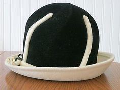 very audrey hepburn... Vintage 1940's Elsa Schiaparelli Hat Black and Cream Fashion Designer | eBay