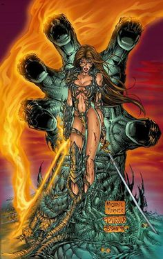WITCHBLADE •Michael Turner   Great artist that passed away much too young.