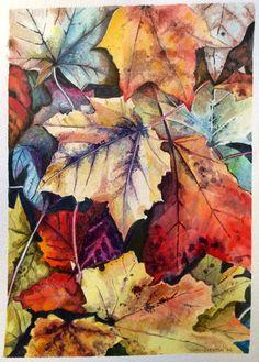 Autumn Patterns. Glyn Overton. Watercolour.