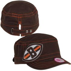 New Era Cleveland Browns Ladies Chic Cadet Military Hat - Brown