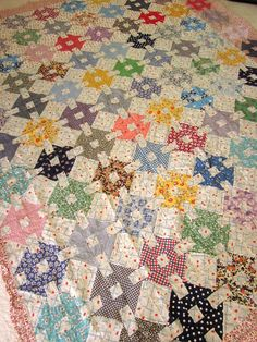 Vintage Patchwork Quilt top Hand sewn Country by JeepersKeepers, $400.00