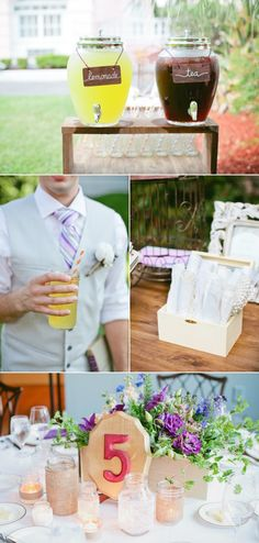refreshments are a must at a southern outdoor ceremony