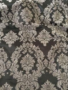 "5 Yards Royal Blue Black Flocking Damask Taffeta Velvet 15ft Fabric 58"" Flocked. Grey/Sliver and Black Flocking Damask Taffeta Fabric. 100% Damask Taffeta. ONLY SPECIALIZE IN TEXTILE DECOR WITH. Tablecloth Market. | eBay!"