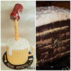 Beer gravity cake