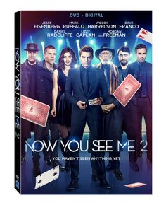 Now You See Me 2 (2016) ... After fleeing from a stage show, the illusionists, J. Daniel Atlas (Jesse Eisenberg), Merritt McKinney (Woody Harrelson), Jack Wilder (Dave Franco) and Lula (Lizzy Caplan), known as the Four Horsemen, find themselves in more trouble in Macau, China. (10-Dec-2016)