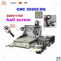 (677.00$)  Know more - http://aiiuq.worlditems.win/all/product.php?id=1678945680 - 110/220V 3 Axis CNC Router Machine CNC3020Z-DQ, With Ball Screw& Tool Auto-checking Instrument
