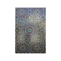 Mosaic Wall for Fountain, Fes, Morocco, Africa Photographic Wall Art... ($40) ❤ liked on Polyvore featuring home, home decor, wall art, mosaic home decor, photographic wall art, mosaic wall art and photography wall art
