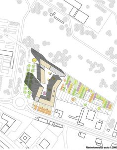 Image 11 of 16 from gallery of Social Housing in Milan / StudioWOK. concept diagram B Architecture Portfolio Template, Architecture Drawing Plan, Architecture Drawing Sketchbooks, Architecture Concept Diagram, Architecture Collage, Architecture Graphics, Architecture Details, Landscape Architecture, Biomimicry Architecture