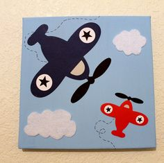 Wall Decor Airplane Baby Nursery Kids by Diannasdiapercakes