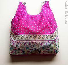 Einkaufstasche aus Regenschirm / Shopping bag made from umbrella / Upcycling