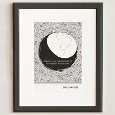 Illustration by Evan Robertson, Emily Bronte Quote, Fine Art Print, Art Poster, Wuthering Heights