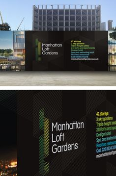 Hoarding - I like the idea of featuring what's to come. Needs to be visible from the street. Property Branding, Real Estate Branding, Environmental Graphic Design, Environmental Graphics, Wayfinding Signage, Signage Design, Hoarding Design, Billboard Design, Property Design