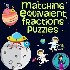Equivalent Fractions Match Up 2 {Puzzles & Worksheets} 5th Grade Math, Fourth Grade, Third Grade, Equivalent Fractions, Math Fractions, Creative Teaching, Teaching Math, Teaching Ideas, Homeschool Math