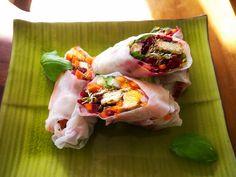 Fresh spring rolls vegetables crumbed tofu | Flickr - Photo Sharing!