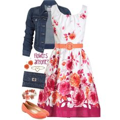 """Because a Denim jacket goes with anything!"" by jamie-burditt on Polyvore"