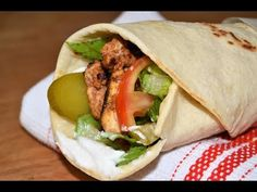 Chicken Shawarma and Lebanese Bread/Chef Ahmad's Kitchen Middle East Food, Middle Eastern Recipes, Cookbook Recipes, Lunch Recipes, Shawarma Bread, Lebanese Chicken, B Food, Cooking Food, Lebanese Recipes